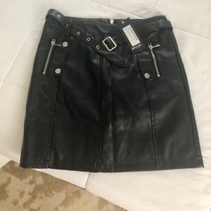 Nasty Gal Black Leather Skirt, Size Small!